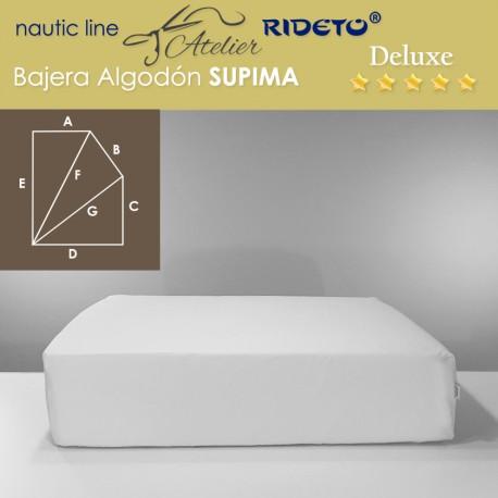 Spannbetttuch Deluxe Supima für Schiffmatratze, rechteckigem Trapez Form I