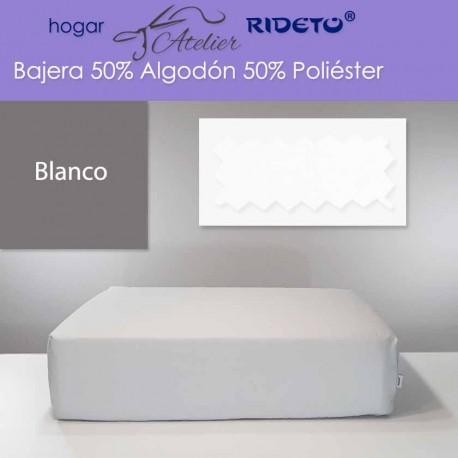 Bajera ajustable 50% Alg. 50% Pol. colchón 15, 20 y 25 cm Blanco