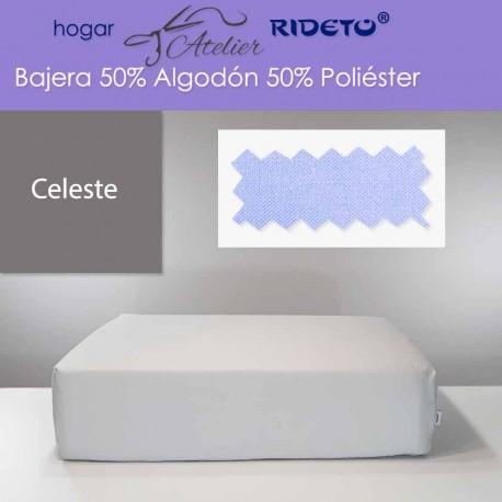 Bajera ajustable 50% Alg. 50% Pol. colchón 15, 20 y 25 cm Celeste