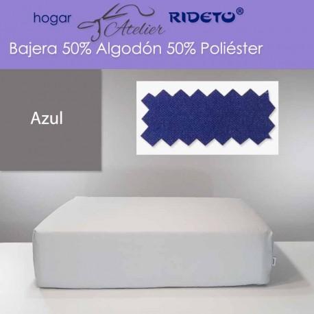 Bajera ajustable 50% Alg. 50% Pol. colchón 15, 20 y 25 cm Azul