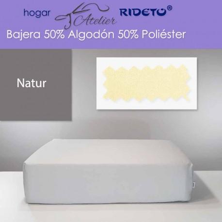 Bajera ajustable 50% Alg. 50% Pol. colchón 15, 20 y 25 cm Natur