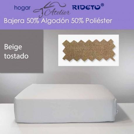 Bajera ajustable 50% Alg. 50% Pol. colchón 15, 20 y 25 cm Beige tostado