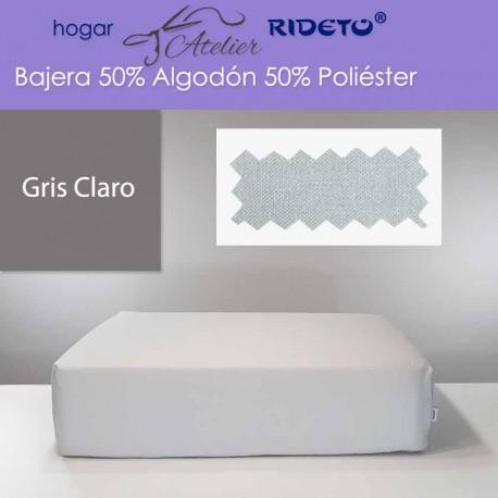 Bajera ajustable 50% Alg. 50 Pol. colchón 30 cm Gris Claro
