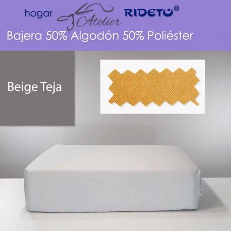 Bajera ajustable 50% Alg. 50% Pol. colchón 15, 20 y 25 cm Beige teja