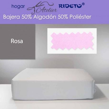 Bajera ajustable 50% Alg. 50% Pol. colchón 15, 20 y 25 cm Rosa