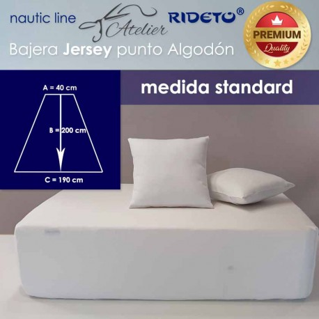Boat Fitted sheet  Standard 190 Jersey Premium fabric, V-Berth shape