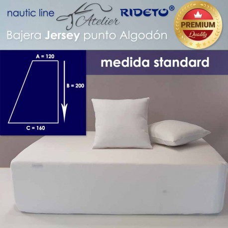 Boat Fitted sheet  Standard 160 Jersey Premium fabric, Half V-Berth rect. right shape