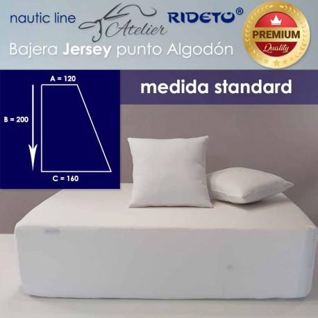 Boat Fitted sheet  Standard 160 Jersey Premium fabric, Half V-Berth rect. left shape