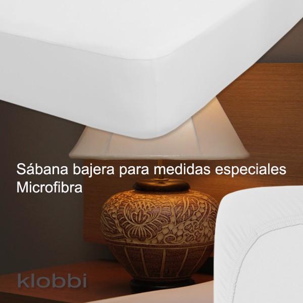 Bajera ajustable 100% Poliéster colchón 30 cm Blanco