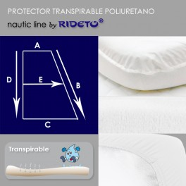 Mattress protector for boat, shape rectangular Trapeze I