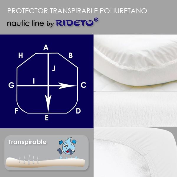 149c07736f4 Protector impermeable para colchón barco Modelo D esquinas cortadas ...