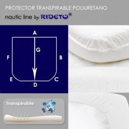 Mattress protector for boat, rounded shape