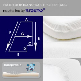 Protector impermeable colchón barco Trapecio Rectángulo D Inv.