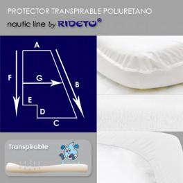 Protector impermeable colchón barco Trapecio Rectángulo I Inv.