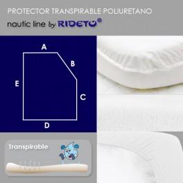 Protector impermeable para colchón barco Rectangular Chaflán dcho.