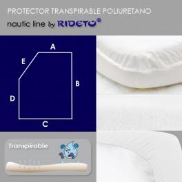 Protector impermeable para colchón barco Rectangular Chaflán izq.
