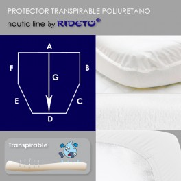 Mattress protector for boat, shape cut corners incl.