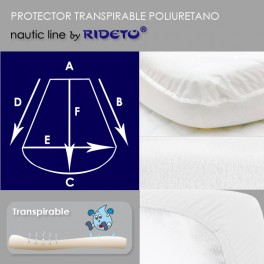 Waterproof matress protector boat, shape Trapezoid rounded