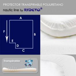 Protector impermeable para colchón barco esquina inv. izq.