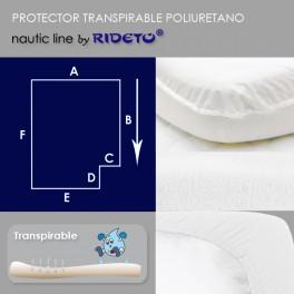 Protector impermeable para colchón barco esquina inv. dcha.