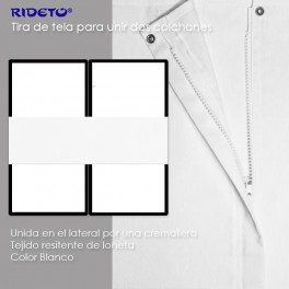 Anti-Rutsch Band 50 cm aus Leinenstoff für Einzelmatratzen zwischen 80 cm und 85 cm