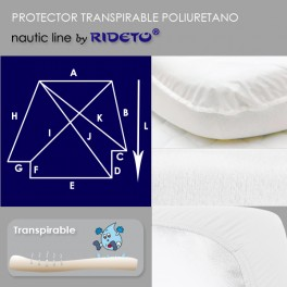Protector impermeable colchón barco cama doble ángulo inv.