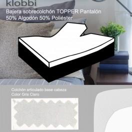 Fitted sheet TOPPER mattress, 50% cot. 50% pol. light grey