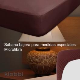 Bajera ajustable 100% Poliéster colchón 25 cm Marrón