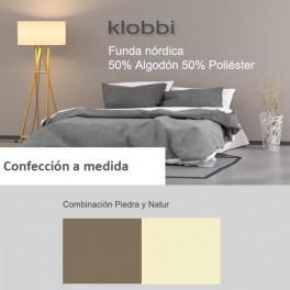 Duvet cover 50% cotton 50% polyester piedra-natur