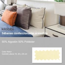 Bettlaken 50% Baumw. 50% Polyester natur
