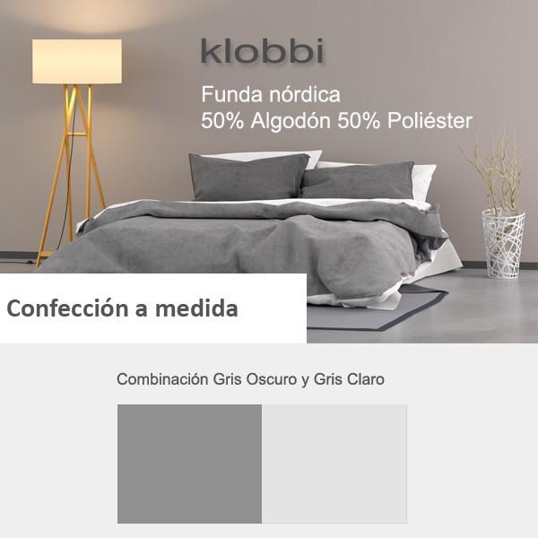 Duvet cover 50% cotton 50% polyester dark grey light grey   Edimar