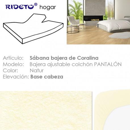 Sábana bajera Coralina cama articulada Pantalón 100% Poliéster