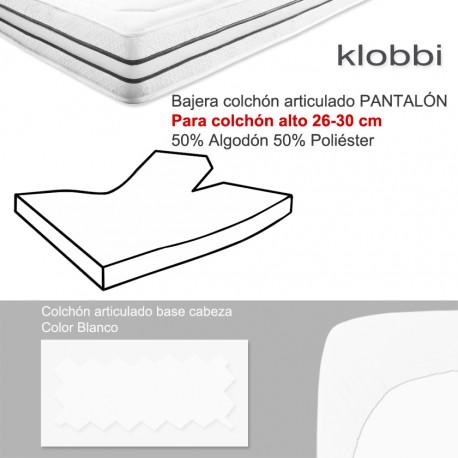 Colchón 30 cm 50% Alg. 50% Pol. Pantalón Blanco