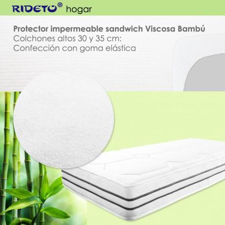 Protector impermeable para colchón grueso 30 y 35 cm altura
