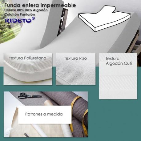 Funda entera impermeable Rizo 100% Algodón colchón Gemelo