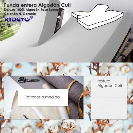 Funda entera Algodón Cuti para camas articuladas Gemelo