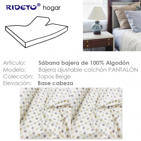 Fitted sheet for articulated bed Topos beige
