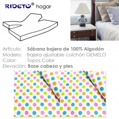 Fitted sheet for articulated bed Topos color