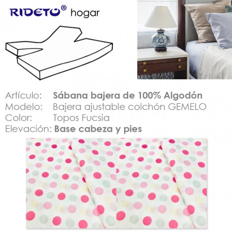 Fitted sheet for articulated bed Topos fuchsia