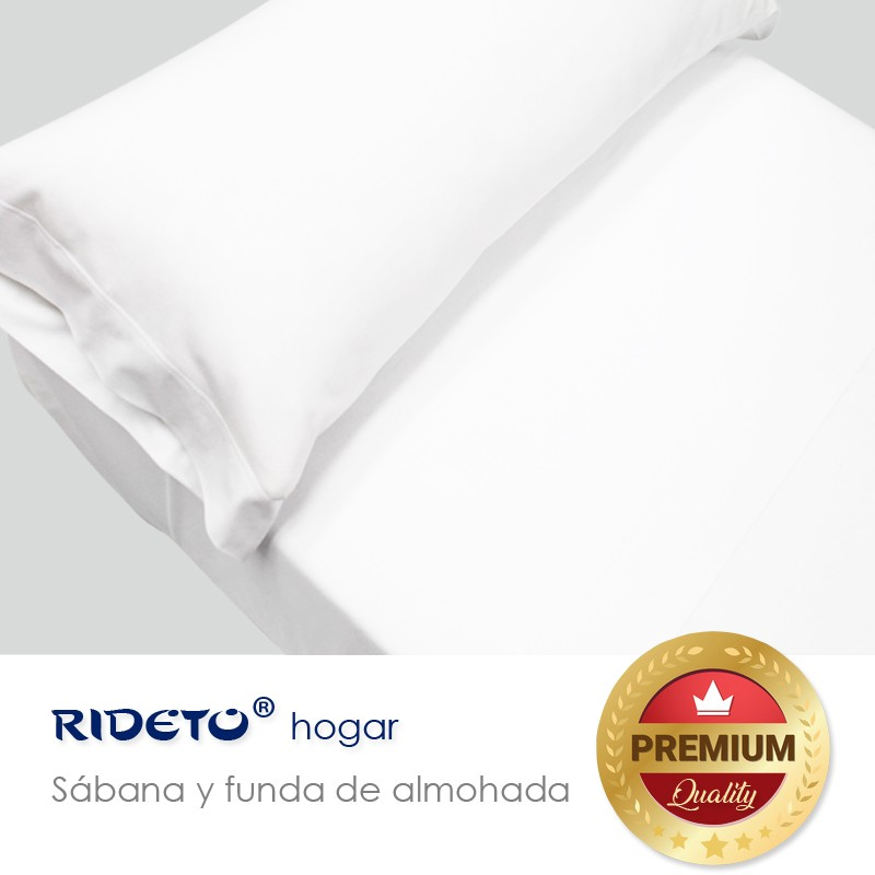 Sheet and pillow Jersey single and double bed white