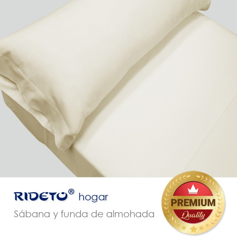 Sheet and pillow Jersey single double bed beige piedra