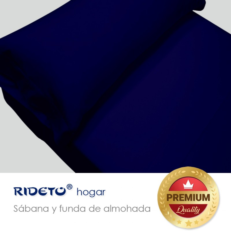 Sheet and pillow Jersey single double bed dark blue