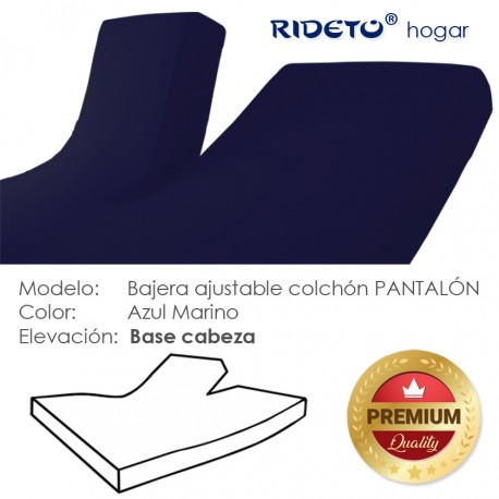 Fitted sheet articulated bed 50% cot. 50% pol. dark blue
