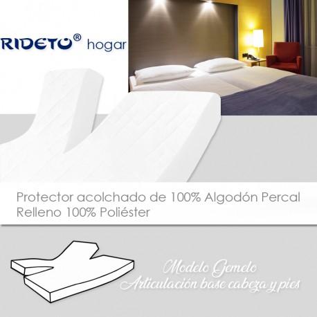 Protector acolchado colchón GEMELO