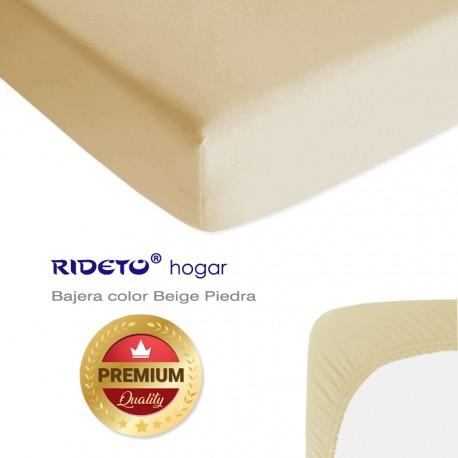 Bajera para literas de punto Algodón Premium Beige Piedra
