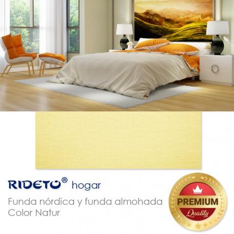 Duvet cover on knit fabric plain color Beige natur