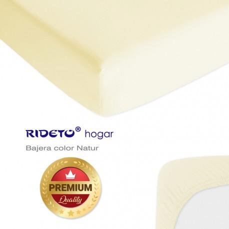 Bajera para literas de punto Algodón Premium Beige Natur