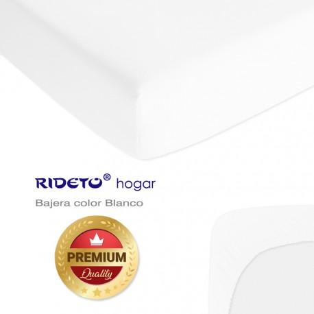 Bajera de punto 100% Algodón hasta 35 cm de grosor Blanco