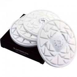 Posavasos silicona adherente 4-Set blanco
