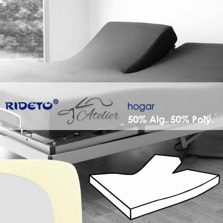 Fitted sheet articulated bed 50% cot. 50% pol. natur